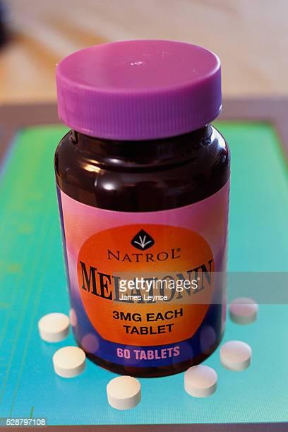 Bottle of Melatonin Pills