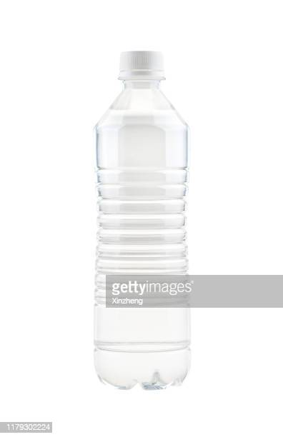 bottle of mineral water - translucent stock pictures, royalty-free photos & images