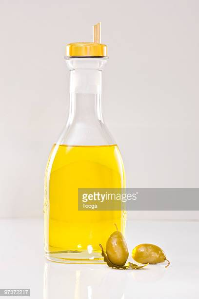 Bottle of olive oil with spout
