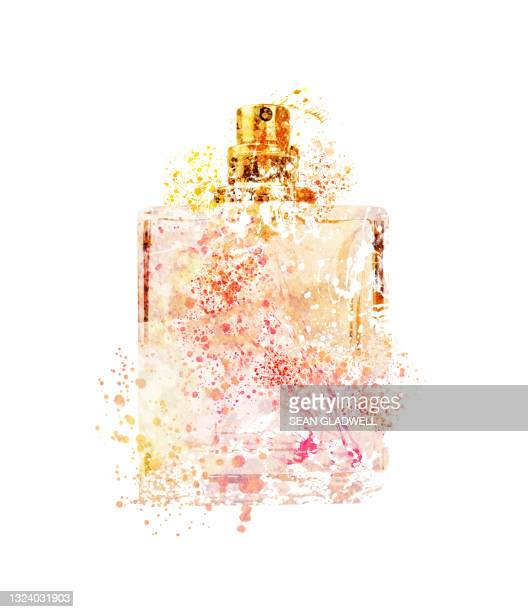 bottle of perfume illustration - luxury stock pictures, royalty-free photos & images