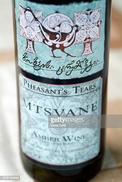 A bottle of Pheasants Tears Mtsvane white wine Pheasant's Tears is a boutique winery in the southern reaches of Georgias Kakheti Valley which...
