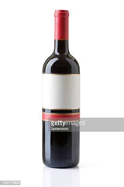 bottle of red wine - wine bottle stock pictures, royalty-free photos & images