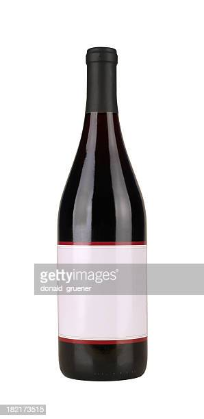 bottle of red wine - pinot noir grape stock photos and pictures