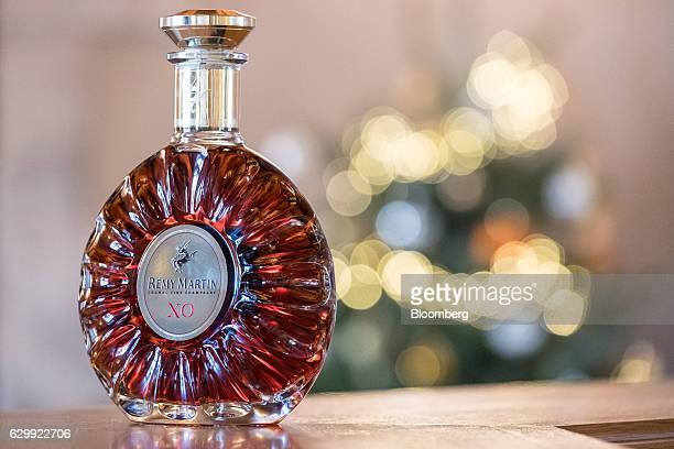 A bottle of Remy Martin XO Excellence cognac is arranged for a photograph at the Remy Cointreau SA headquarters Club in Cognac France on Friday Dec 9...