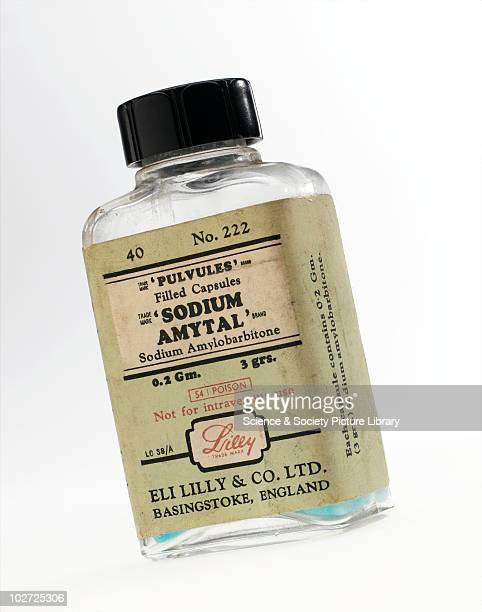 Bottle of sodium amytal England 19601975 Bottle of 'Sodium amytal' by Eli Lilly and Co Ltd England 19601975