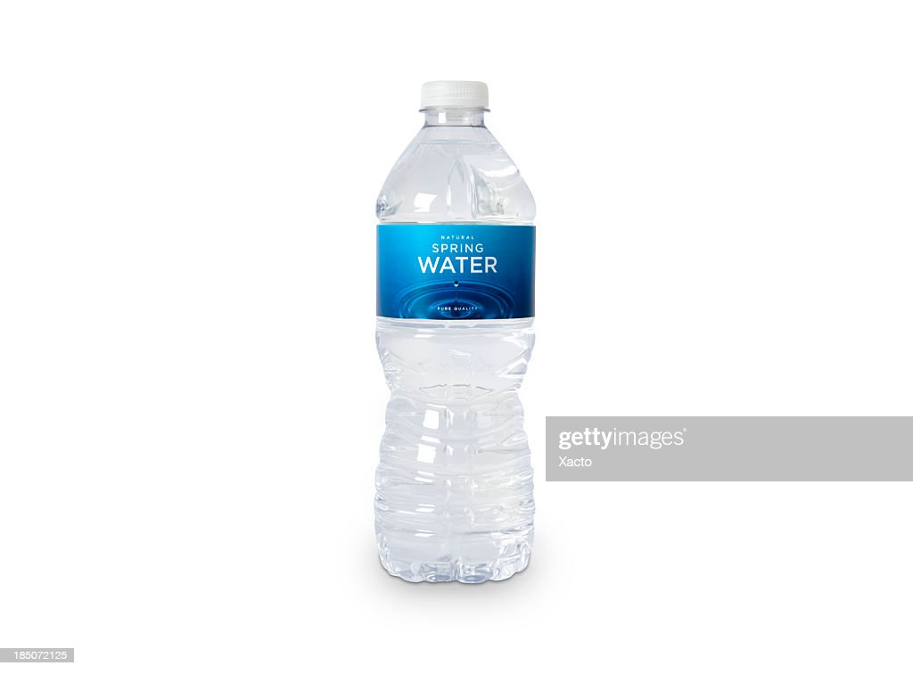 Bottle of Spring Water (fictitious) : Stock Photo