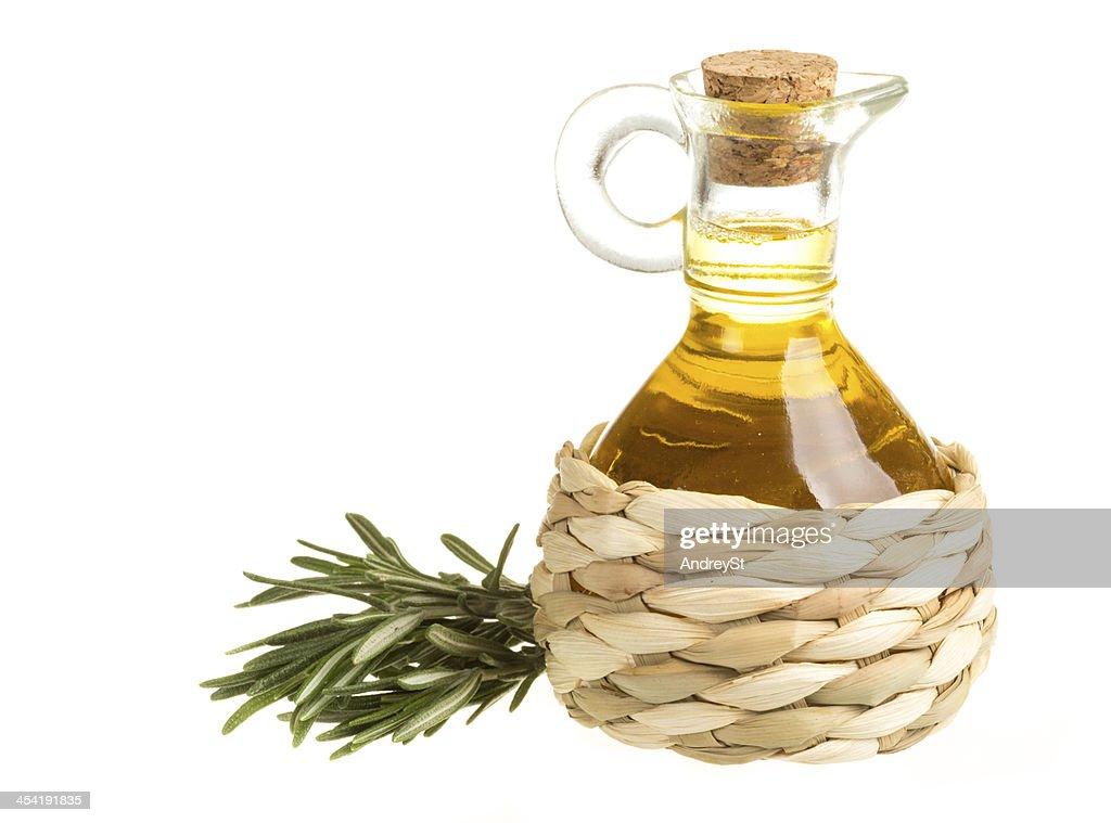 Bottle of sunflower oil : Stock Photo