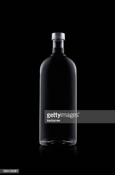 Bottle of water isolated on black background