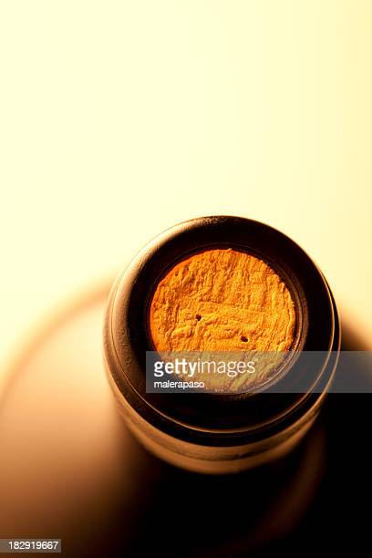 bottle of wine - cork stopper stock photos and pictures