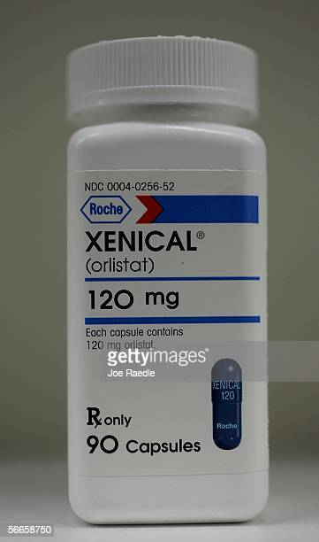 Bottle of Xenical is seen January 24, 2006 in Cambridge, Massachusetts. Food and Drug Adminstration advisors yesterday voted to recommend...