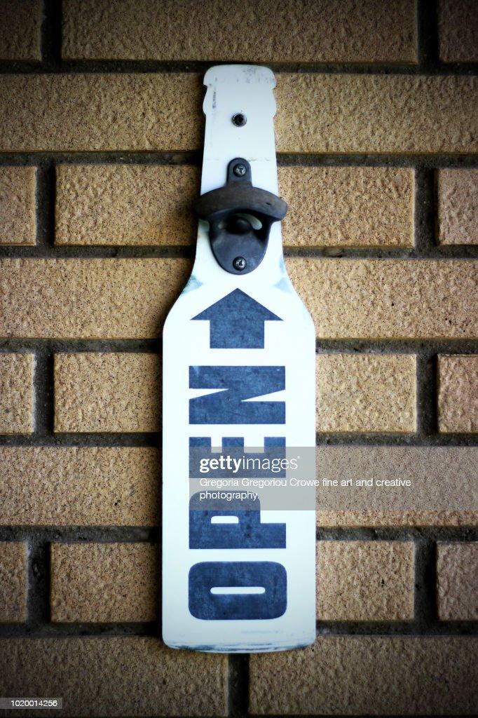 Bottle Opener On Wall : Stock Photo