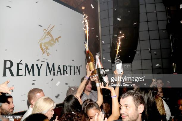 Bottle service presented during TAO Group's Big Game Takeover presented by Tongue Groove and Remy Martin on February 2 2019 in Atlanta Georgia