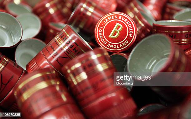 Bottle tops for Beefeater gin sit in a box at the Pernod Ricard SA bottling plant in Dumbarton UK on Friday Nov 19 2010 Pernod Ricard SA the world's...