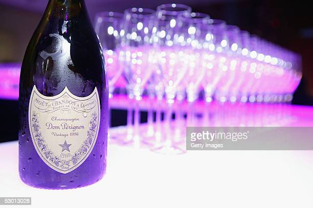 Bottles of 1996 Dom Perignon at 'Unveil The Night With Dom Perignon And Karl Lagerfeld' event at Skylight Studios June 2 2005 in New York City