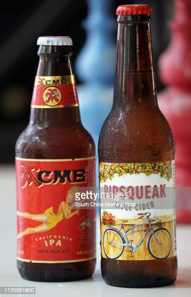 Bottles of Acme IPA and Pipsqueak cider at Madam Sixty Ate 1/F The Podium J Senses 60 Johnston Road Wan Chai in Hong Kong Bar Review for weekly...