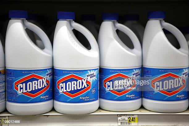 Bottles Of Clorox Bleach Sit On A Shelf At Grocery Store February 11 2011
