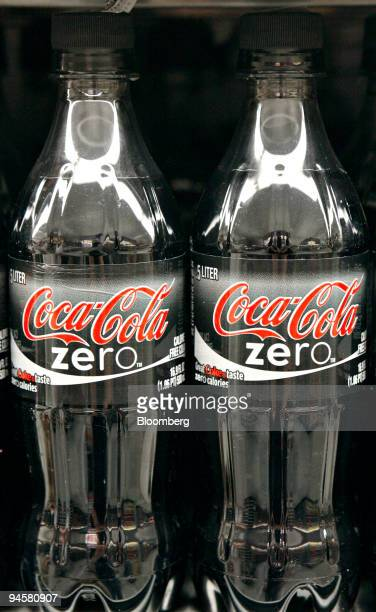 Bottles of CocaCola Zero are displayed in a grocery story in New York Monday July 16 2007 CocaCola Co the world's largest softdrink maker may say...