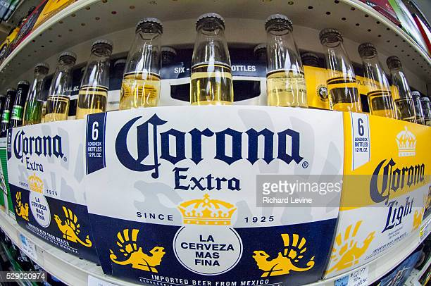 Bottles of Corona beer are in seen a supermarket in New York on Thursday April 10 2014 Constellation Brands the owner of Corona has recalled some 12...
