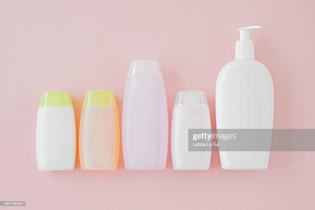 Bottles of cosmetics : Stock Photo