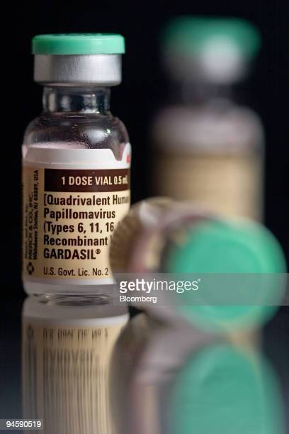 Bottles of Gardasil are arranged for an illustration at C O Bigelow Pharmacy in New York NY Thursday Oct 4 2007 Merck Co's Gardasil the first...