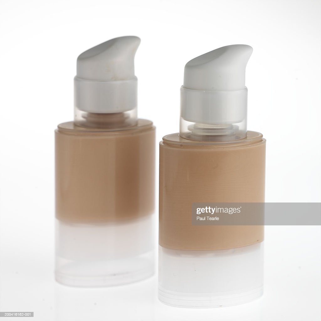 Bottles of make-up, close up : Stock Photo