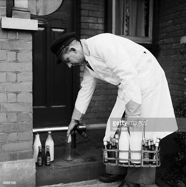 Bottles of milk and 'Noggo' an alcoholic concoction of milk and hibiscushoney being delivered by a milkman The milkshake is the brainchild of Mrs...