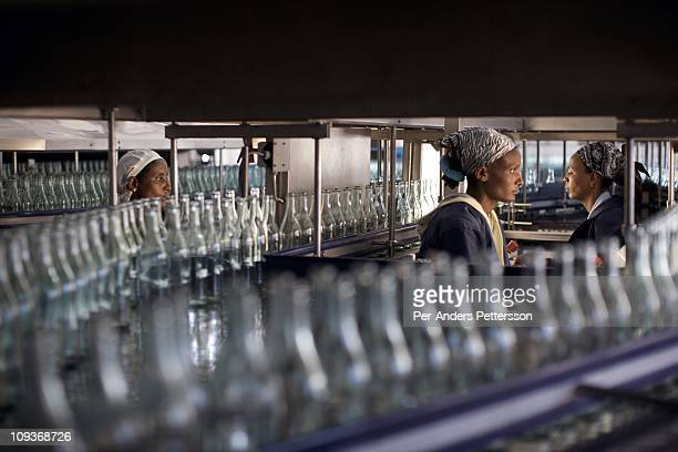 Bottles of mineral rich sparkling water is being made in this factory who was established 80 years ago in Sekele locality near a hot spring 130 km...