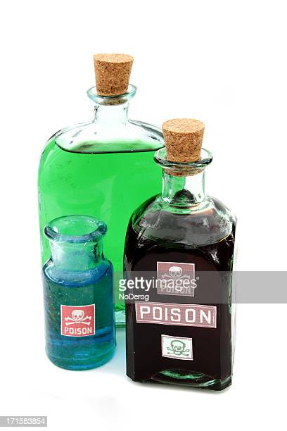 Bottles of poisons