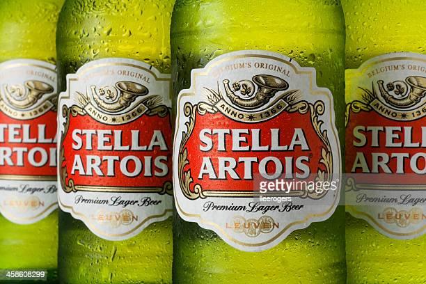 Bottles of Stella Artois