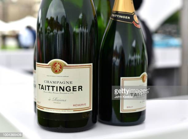 Bottles of Taittinger Champagne at the London Concours at the Honourable Artillery Company on June 7 2018 in London England The event billed as the...