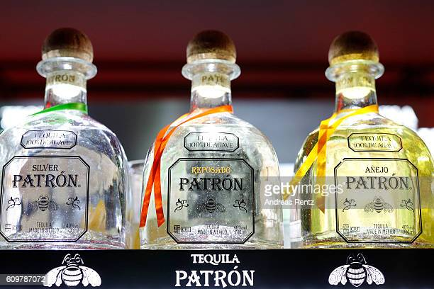 Bottles of Tequila Patron are seen during the opening party during the 12th Zurich Film Festival on September 22 2016 in Zurich Switzerland The...