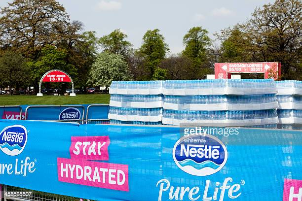 Bottles of water for London Marathon