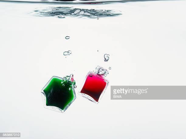 Bottles underwater