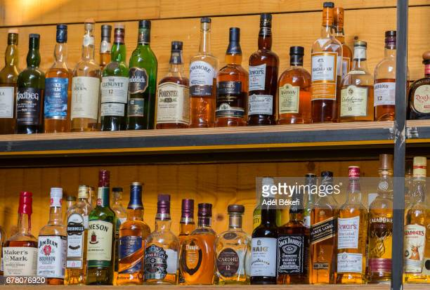 Bottles With Alcoholic in a bar