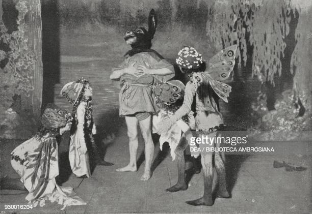 Bottom and goblins scene from A Midsummer Night's Dream a comedy by William Shakespeare staged at the Teatro Argentina in Rome Italy photo by Dante...