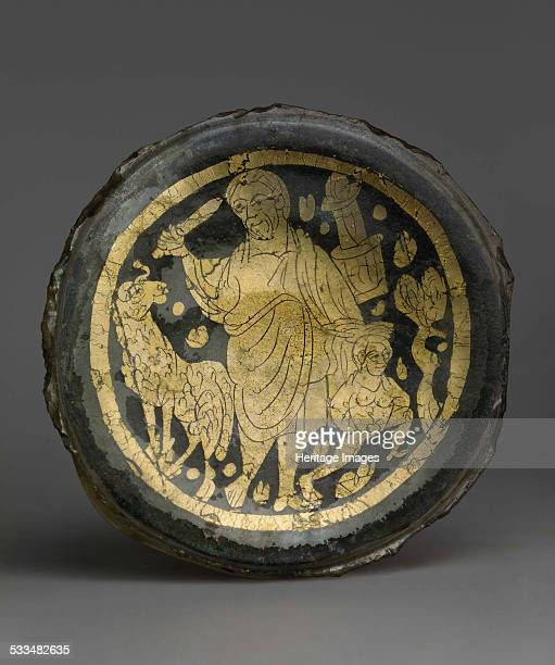 Bottom of a Vessel with Scene of the Sacrifice of Isaac 4th century Found in the collection of State Hermitage St Petersburg