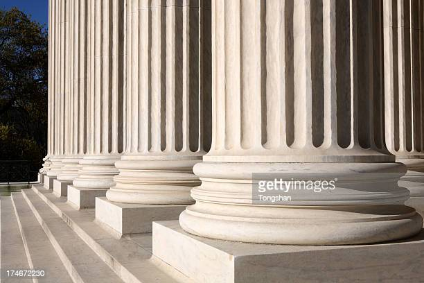 Bottom part of columns of the Supreme Court