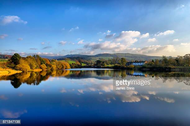 bottoms reservoir, langley, cheshire, uk - reservoir stock pictures, royalty-free photos & images
