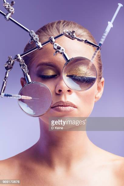 botulinum toxin injection - botox stock pictures, royalty-free photos & images