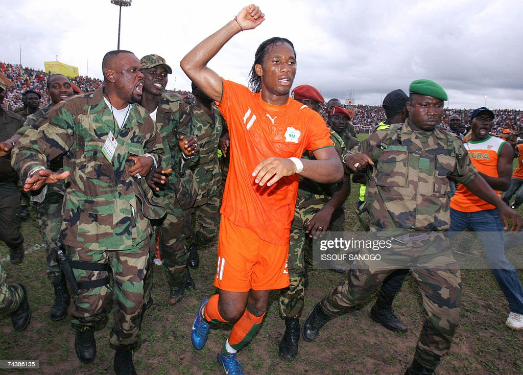 Ivory Coast Elephants striker Didier Dro... : News Photo