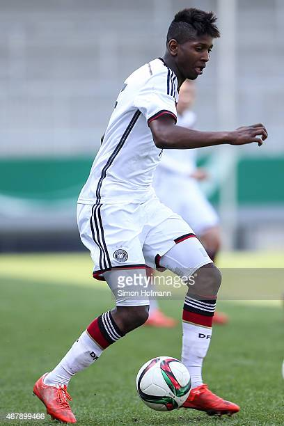 Boubacar Barry of Germany controls the ball during to the UEFA European Under19 Championship Elite Round match between U19 Germany and U19 Ireland at...