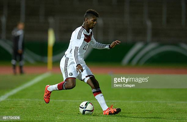 Boubacar Barry of Germany in action during the U20 MercedesBenz Elite Cup match between Germany and Turkey at Donaustadion on October 7 2015 in Ulm...