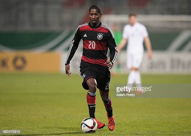 Boubacar Barry of Germany in action during the U20 MercedesBenz Elite Cup match between Germany and England at VoithArena on October 13 2015 in...