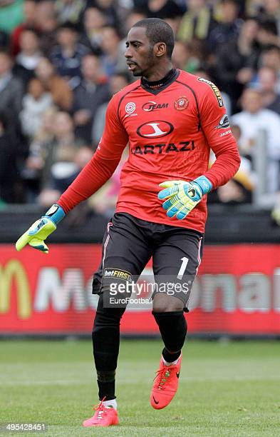 Boubacar Barry of KSC Lokeren OV in action during the Jupiler League match between KSC Lokeren OV and Club Brugge at the Daknamstadion on April 26...