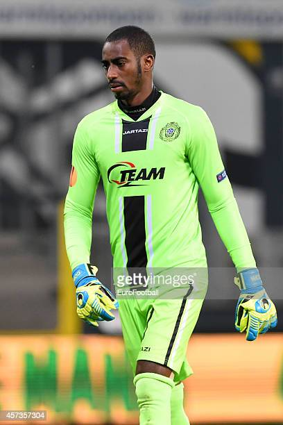 Boubacar Barry of KSC Lokern OV in action during the UEFA Europa League group L match between KSC Lokeren OVL and FC Metalist Kharkiv at the...