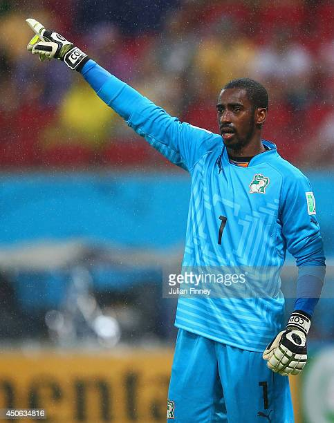 Boubacar Barry of the Ivory Coast during the 2014 FIFA World Cup Brazil Group C match between the Ivory Coast and Japan at Arena Pernambuco on June...
