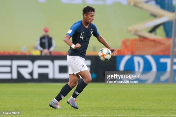 Boubacar Kamara of France controls the ball during the FIFA U20 World Cup match between Panama and France on May 28 2019 in Bydgoszcz Poland