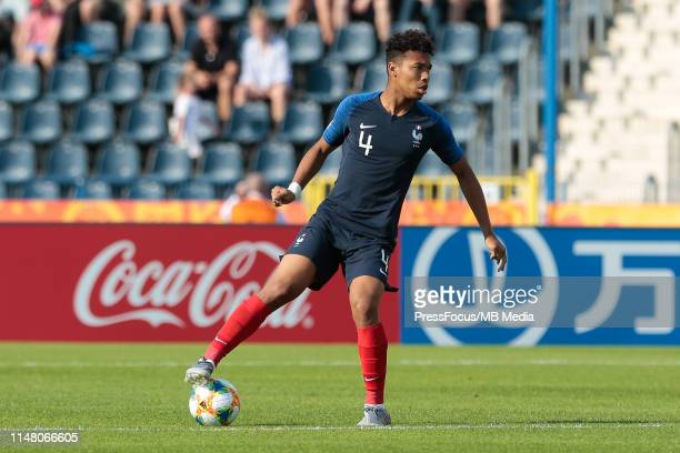 Boubacar Kamara of France controls the ball during the FIFA U20 World Cup match between France and USA on June 4 2019 in Bydgoszcz Poland
