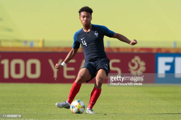 Boubacar Kamara of France passes the ball during the FIFA U20 World Cup match between France and USA on June 4 2019 in Bydgoszcz Poland