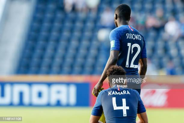 Boubacar Kamara of France Sambou Sissoko of France look dejected during the 2019 FIFA U20 World Cup Round of 16 match between France and USA at...